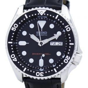Montre 200M Ratio cuir noir SKX007K1-LS6 masculine automatique Seiko Diver