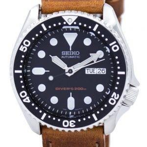 Montre 200M Ratio cuir marron SKX007K1-LS9 masculine automatique Seiko Diver