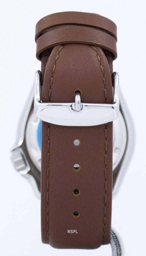 Montre 200M Ratio cuir marron SKX009K1-LS12 masculine automatique Seiko Diver