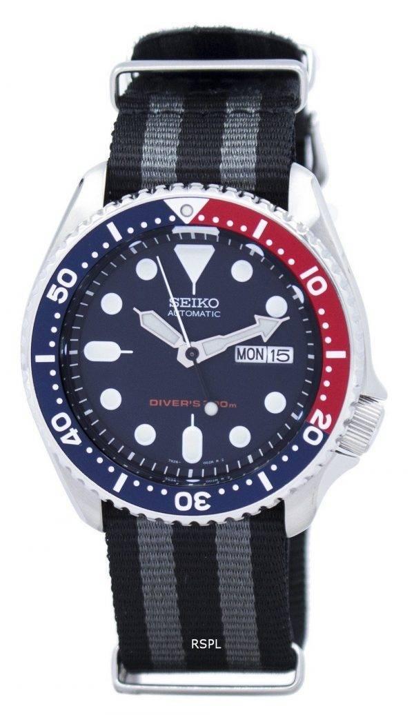 Montre 200M NATO bracelet SKX009K1-NATO1 masculine automatique Seiko Diver
