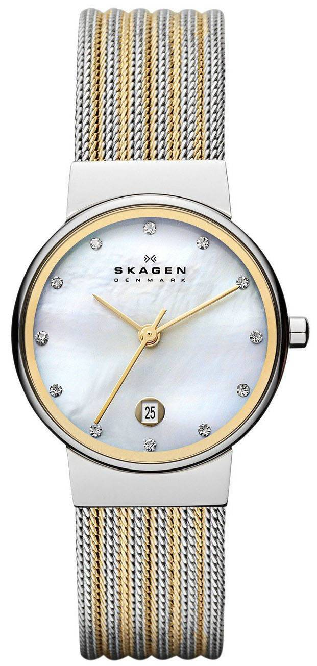Skagen Ancher Quartz diamant Accent 355SSGS Women Watch