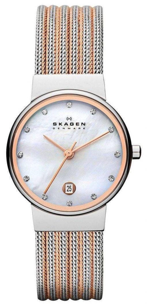 Skagen Ancher Quartz diamants Accent 355SSRS Women Watch