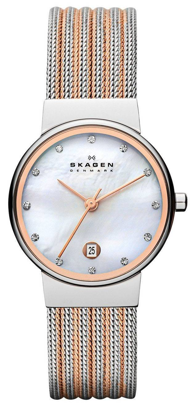 Skagen Ancher Quartz diamants Accent 355SSRS Women Watch