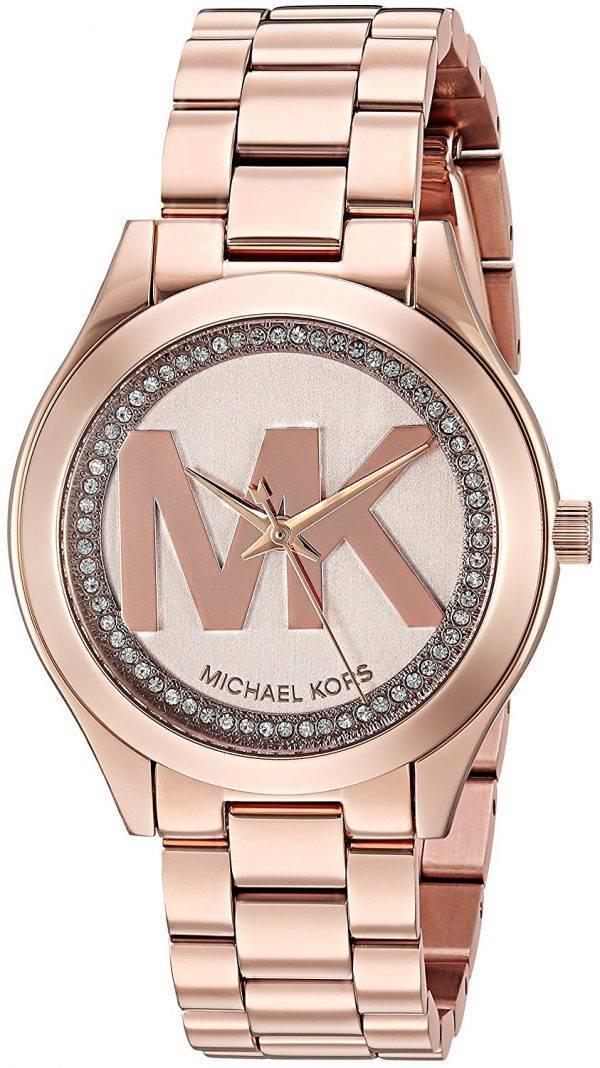 a65bcb629748 Michael Kors Mini Track Slim Quartz Diamond Accent MK3549 Women s Watch