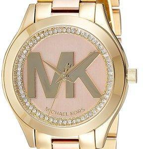 Montre Michael Kors Mini piste Slim Quartz diamant Accent MK3650 féminin