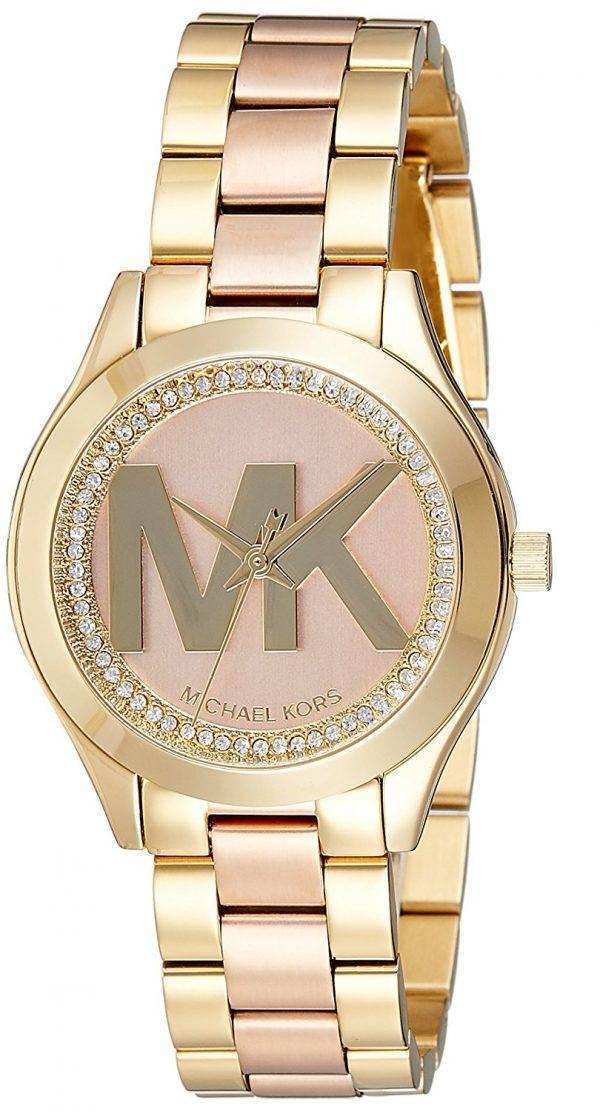 Montre Michael Kors Mini piste Slim Quartz diamant Accent MK3650 féminin