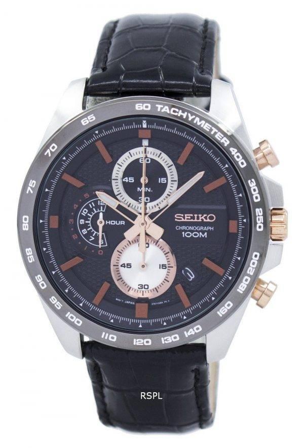 Montre Seiko chronographe Quartz tachymètre SSB265 SSB265P1 SSB265P hommes