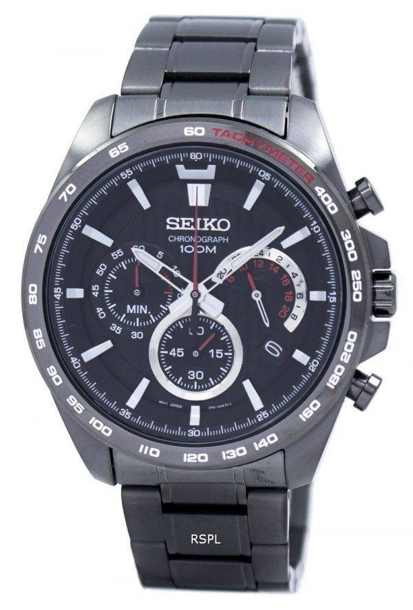 Montre Seiko chronographe Quartz tachymètre SSB311 SSB311P1 SSB311P hommes