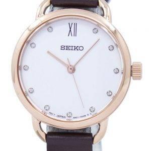 Montre Seiko analogique Quartz diamant Accent SUR698P2 féminin