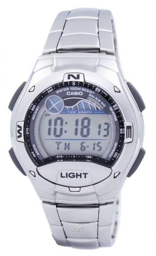Casio double temps alarme marée graphique numérique W-753D-1AV W753D-1AV montre homme