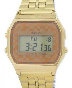 Montre Casio Vintage chronographe alarme numérique A159WGEA-9 a masculin