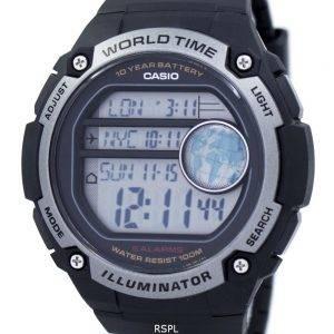 Casio jeunesse illuminateur World Time Digital AE-3000W-1AV AE3000W-1AV montre homme