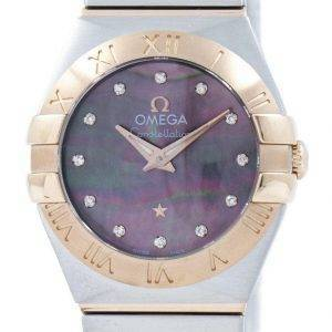 Montre Omega Constellation Tahiti Quartz diamant Accent 123.20.24.60.57.005 féminin