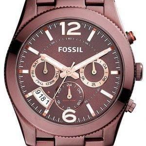 Fossile de Boyfriend parfait multifonction deuxième fuseau horaire GMT Quartz ES4110 Women Watch