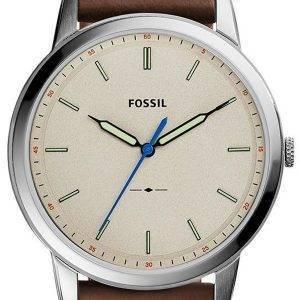 Fossiles du FS5306 de Quartz minimaliste Slim 3H montre homme