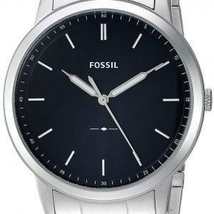 Fossiles du FS5307 de Quartz minimaliste Slim 3H montre homme