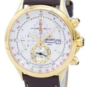Orienter le chronographe tachymètre alarme Quartz FTD0T001N0 montre homme