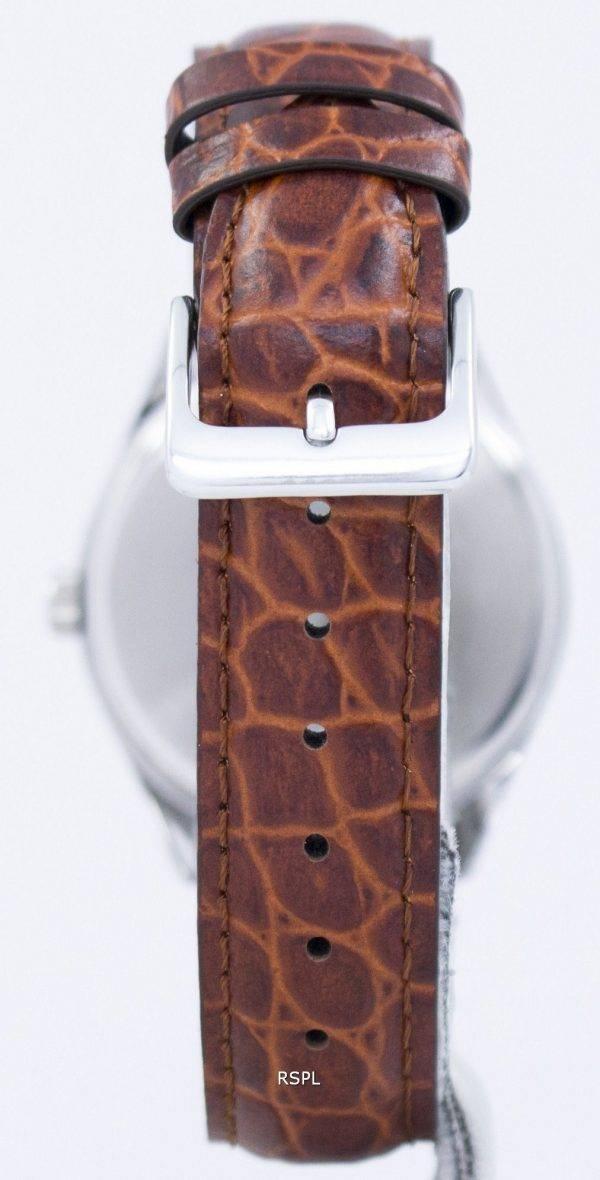 Casio Quartz cadran blanc cuir marron bracelet PSG-1175E-7BDF PSG-1175E-7 b montre homme