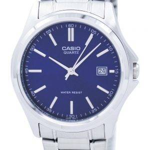 Montre Casio Quartz analogique acier inoxydable cadran bleu PSG-1183A-2ADF PSG-1183A-2 a homme