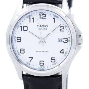 Montre Casio Quartz analogique cadran blanc cuir noir PSG-1183E-7BDF PSG-1183E-7 b masculine