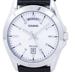 Casio analogique cadran argenté MTP-1370L-7AVDF MTP-1370L-7AV montre homme