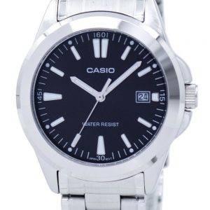 Montre Casio Quartz analogique cadran noir en acier inoxydable PSG-1215A-1A2DF PSG-1215A-1 a 2 homme