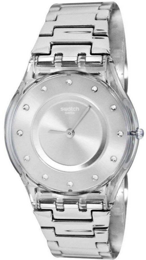 Montre Swatch Skin classique tiroir argent Quartz SFK393G féminin