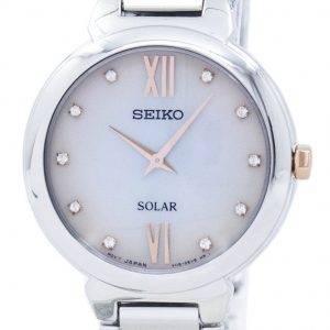 Montre Seiko solaire diamant Accent SUP381 SUP381P1 SUP381P féminin