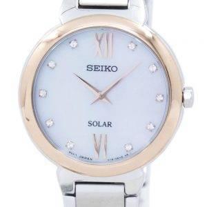 Montre Seiko classique solaire diamant Accent SUP382 SUP382P1 SUP382P féminin