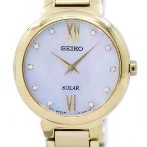 Montre Seiko solaire diamant Accent SUP384 SUP384P1 SUP384P féminin
