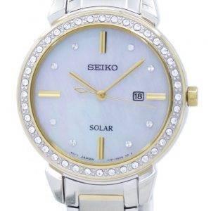 Montre Seiko solaire diamant Accent SUT328 SUT328P1 SUT328P féminin