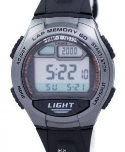Jeunesse de Casio Illuminator Dual Time Digital W-734-1AV W734-1AV montre homme