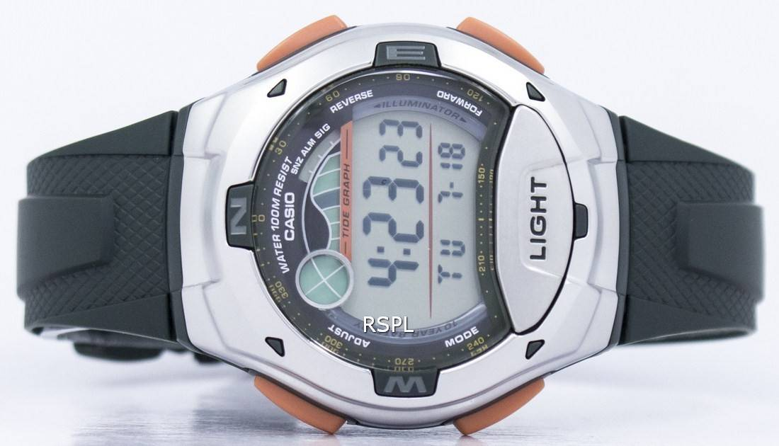 Casio Digital Sports marée graphique illuminateur W 753  fGpaV