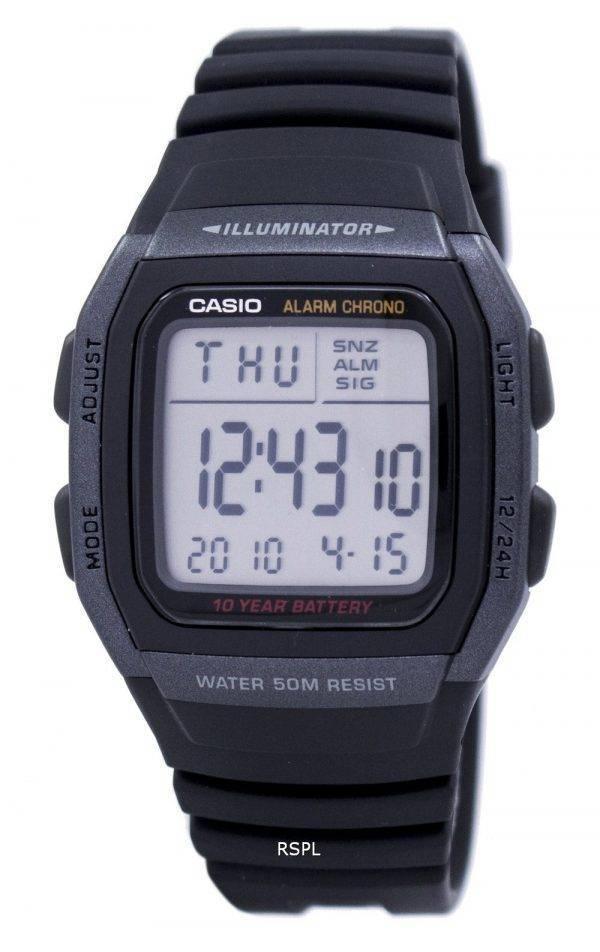Jeunesse de Casio Digital Illuminator W-96H-1BVDF W-96H-1BV montre homme