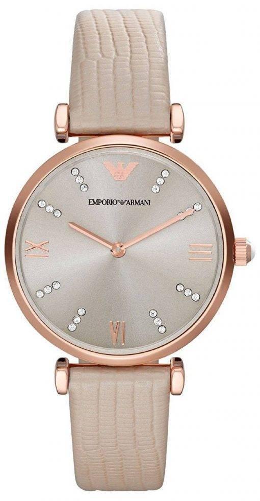 Montre Emporio Armani Classic Retro Quartz diamant Accent AR1681 féminin