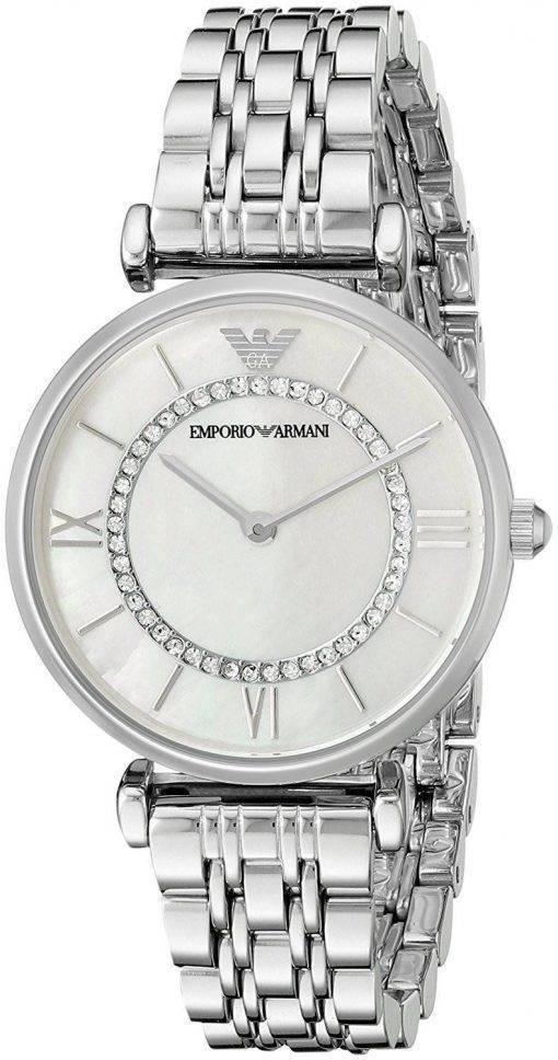Montre Emporio Armani classique Quartz diamant Accent AR1908 féminin