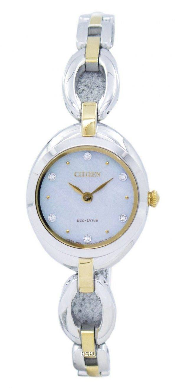 Montre Citizen Eco-Drive Silhouette diamant Accent EX1434 - 55d féminin