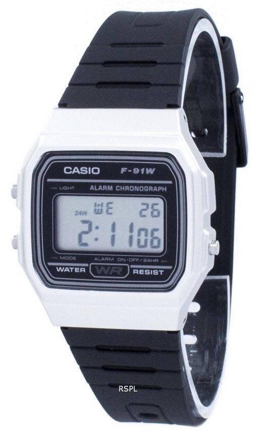 Montre unisexe Casio Vintage chronographe alarme numérique F-91WM-7 a F91WM-7 a