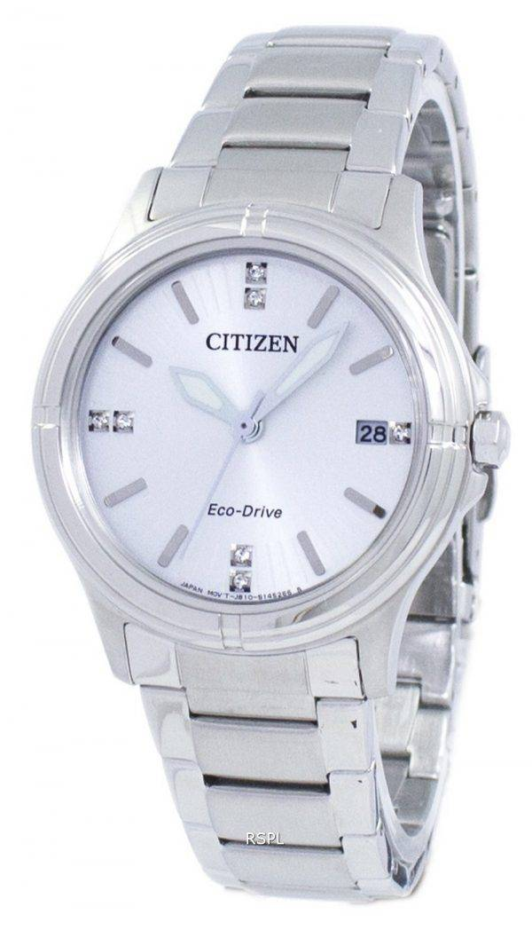 Montre Citizen Eco-Drive diamant Accent FE6050-55 a féminin