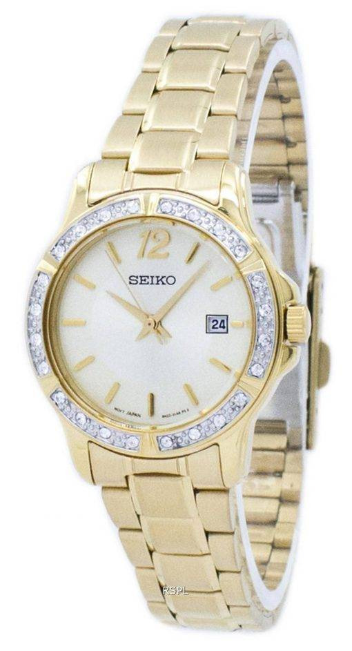 Montre Seiko Quartz diamant Accent SUR714 SUR714P1 SUR714P féminin