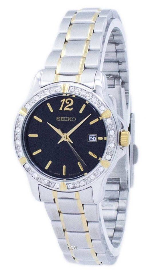 Montre Seiko Quartz diamant Accent SUR716 SUR716P1 SUR716P féminin