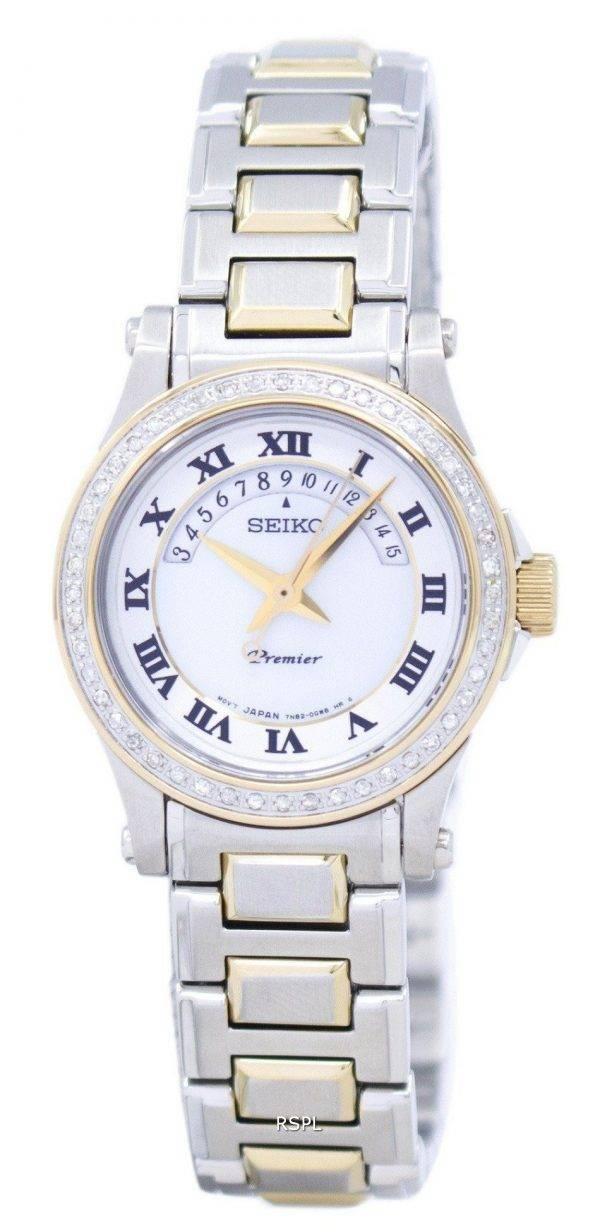 Seiko Premier Mesdames Diamond SXD774P1 SXD774 de 48 diamants