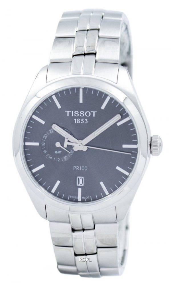 Tissot T-Classic PR 100 montre Dual Time Quartz T101.452.11.061.00 T1014521106100 masculin