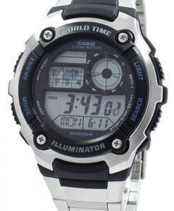 Casio jeunesse illuminateur World Time Digital AE-2100WD-1AV AE2100WD-1AV montre homme