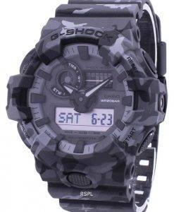 Montre Casio Illuminator G-Shock résistant aux chocs analogique numérique GA-700CM-8 a GA700CM8A masculine