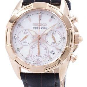 Montre Seiko chronographe Quartz diamant Accent SRW784 SRW784P1 SRW784P féminin