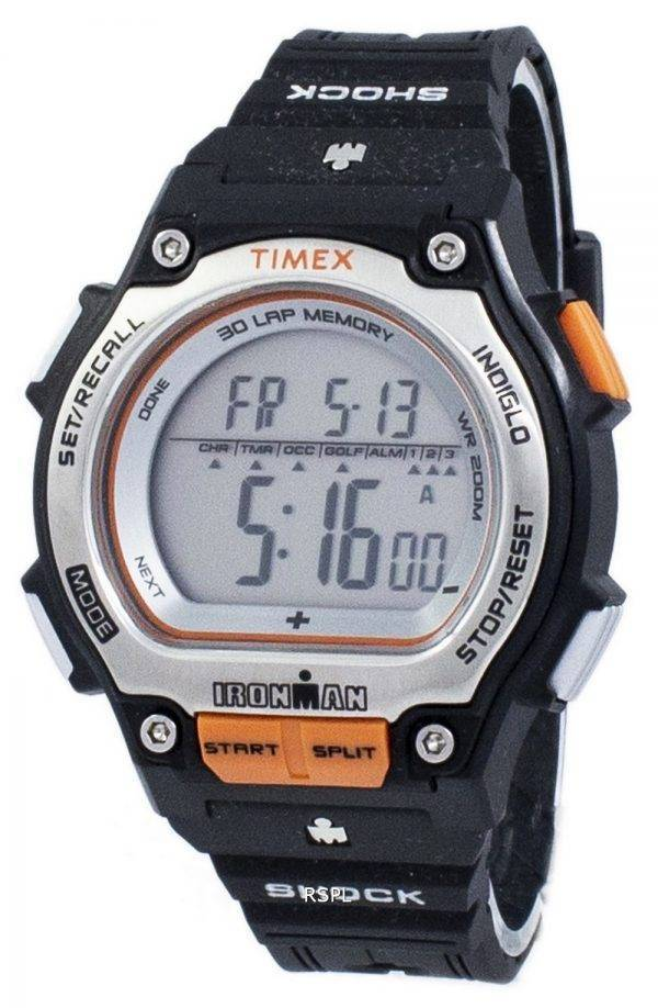 Montre Timex Ironman Shock 30 Lap alarme Indiglo Digital T5K582 masculin