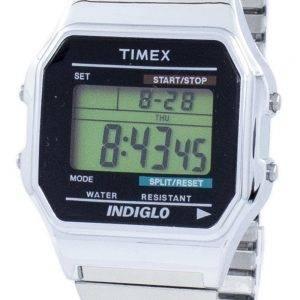 Montre Timex intemporel classique Indiglo chronographe alarme numérique T78587 masculin