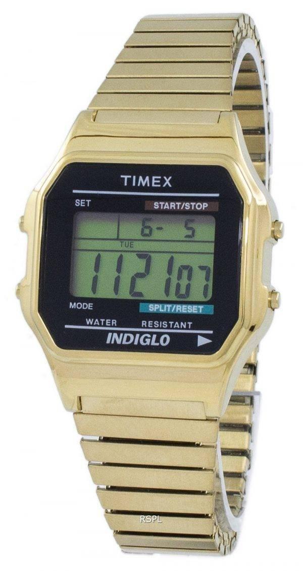 Montre classique de Timex Indiglo chronographe alarme numérique T78677 masculin