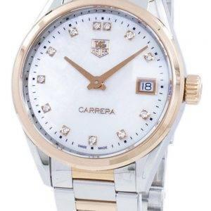 Tag Heuer Carrera Quartz diamant Accents WAR1352. BD0779 Women Watch